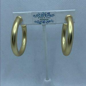 Matte Gold Medium Sized Hoops